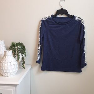 Navy and Lace shirt